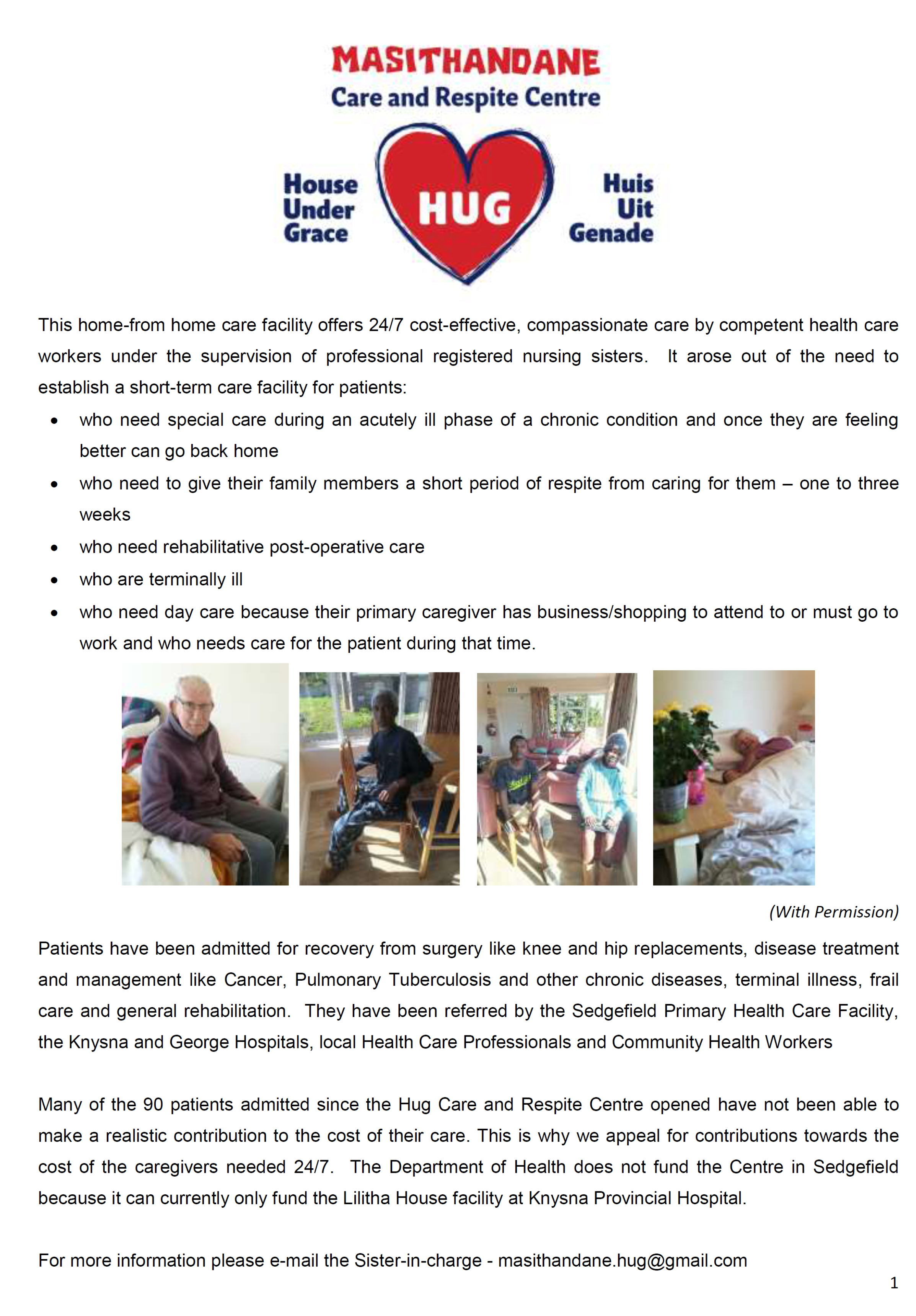 Hug House Appeal July 2019